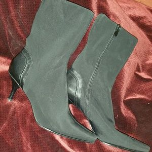 Bandolino lycra and leather heel boots